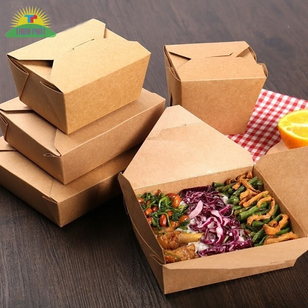 Giấy Kraft chống thấm, hút ẩm tốt nên được dùng để làm hộp đựng thức ăn nhanh