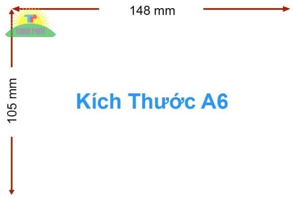 Kích thước khổ A6 theo chiều dài và chiều rộng