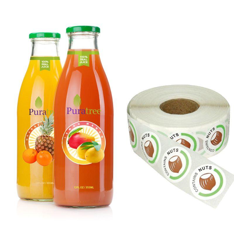 In decal nhựa giá rẻ nhãn hàng nước ép trái cây