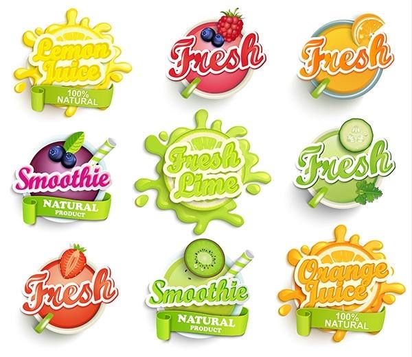 In logo dán chất liệu giấy cho ngành hàng trái cây