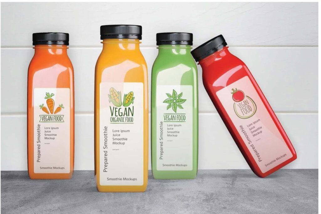 Mẫu decal thực phẩm Organic Vegan