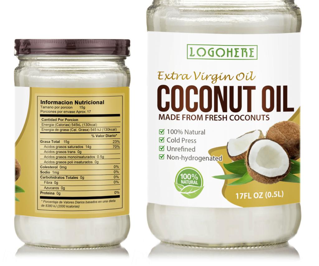 In decal sữa nhãn hàng tinh dầu dừa