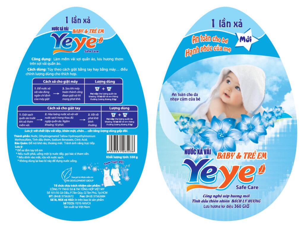 Mẫu decal cho nhãn hàng xả vải YeYe