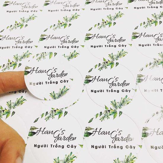 Mẫu decal cho nhãn hàng Han's Garden