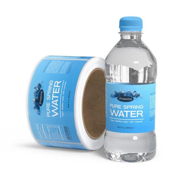 Làm thế nào để in tem decal nhựa chai nước thật ấn tượng?