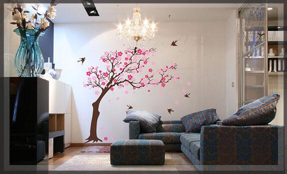 Dán tường nhà bằng in decal theo yêu cầu- giải pháp nội thất không 'đụng hàng'