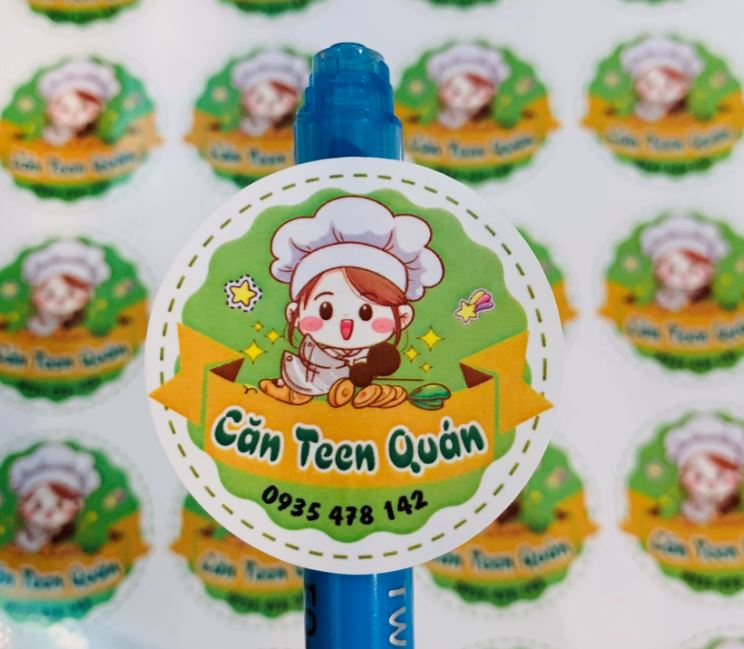 In sticker giá rẻ cho Căn Teen Quán