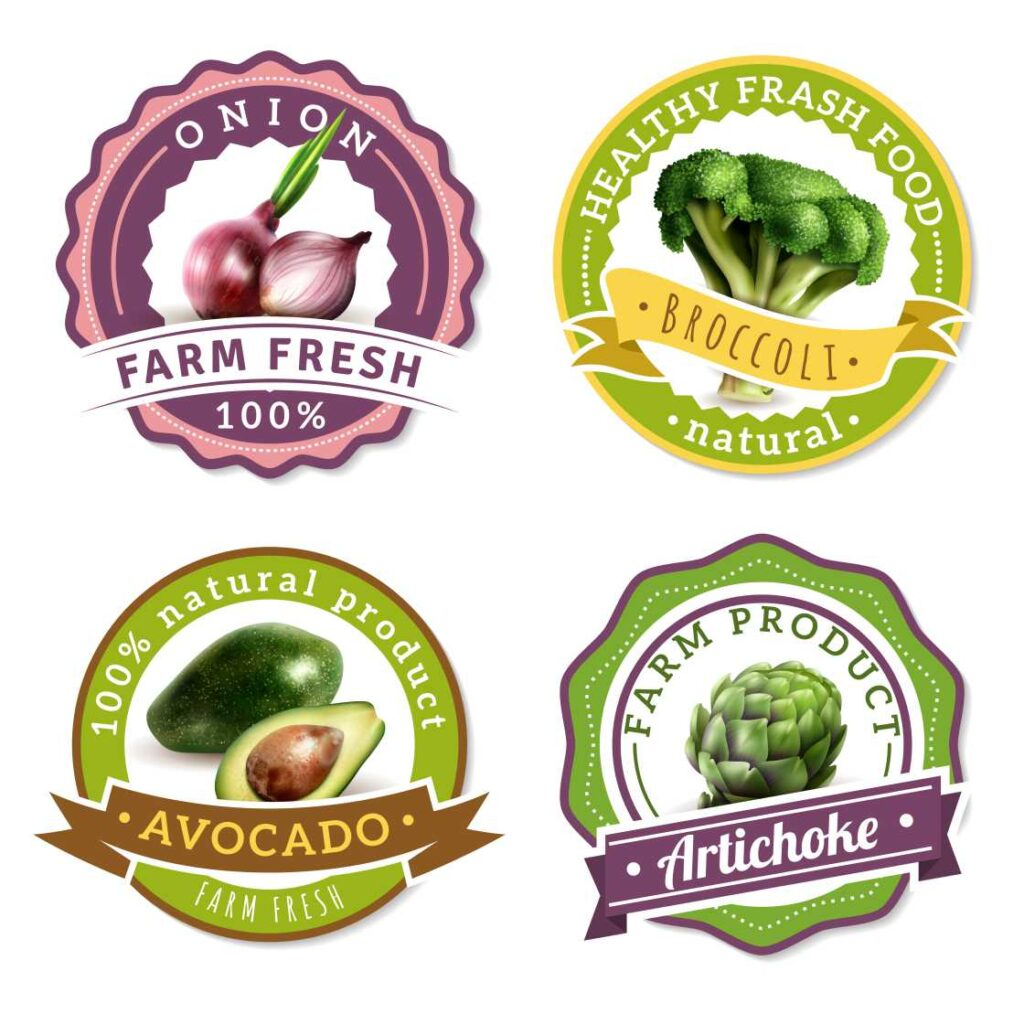 In sticker dán cho ngành hàng thực phẩm