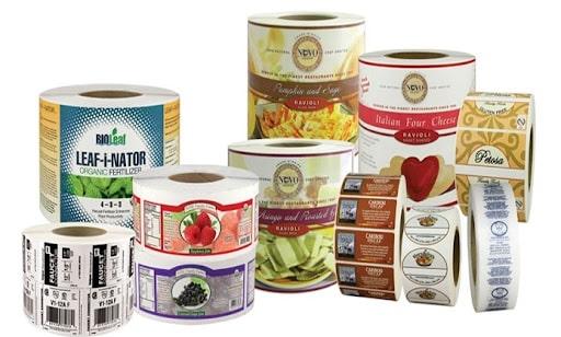 In sticker cuộn cho nhãn hàng thực phẩm