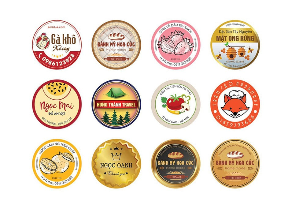In sticker logo biểu tượng của doanh nghiệp