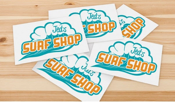 In sticker cắt rời thương hiệu Jed's Suaf Shop