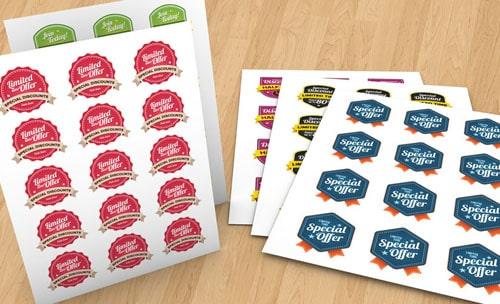In sticker theo bộ cho thương hiệu Special Offer