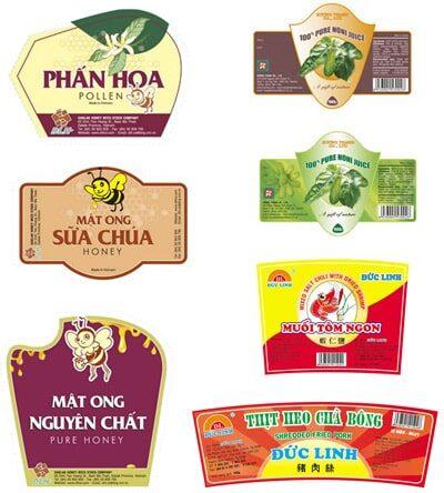 In sticker giá rẻ cho nhãn hàng mật ong