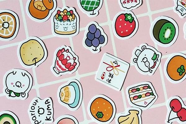 Hình ảnh sticker ngộ nghĩnh được in decal giấy