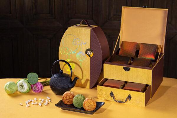Mẫu 8: Hộp bánh Trung thu có kiểu dáng ấn tượng